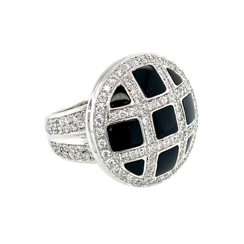 Ashley Ladies Black Onyx & Diamond Ring