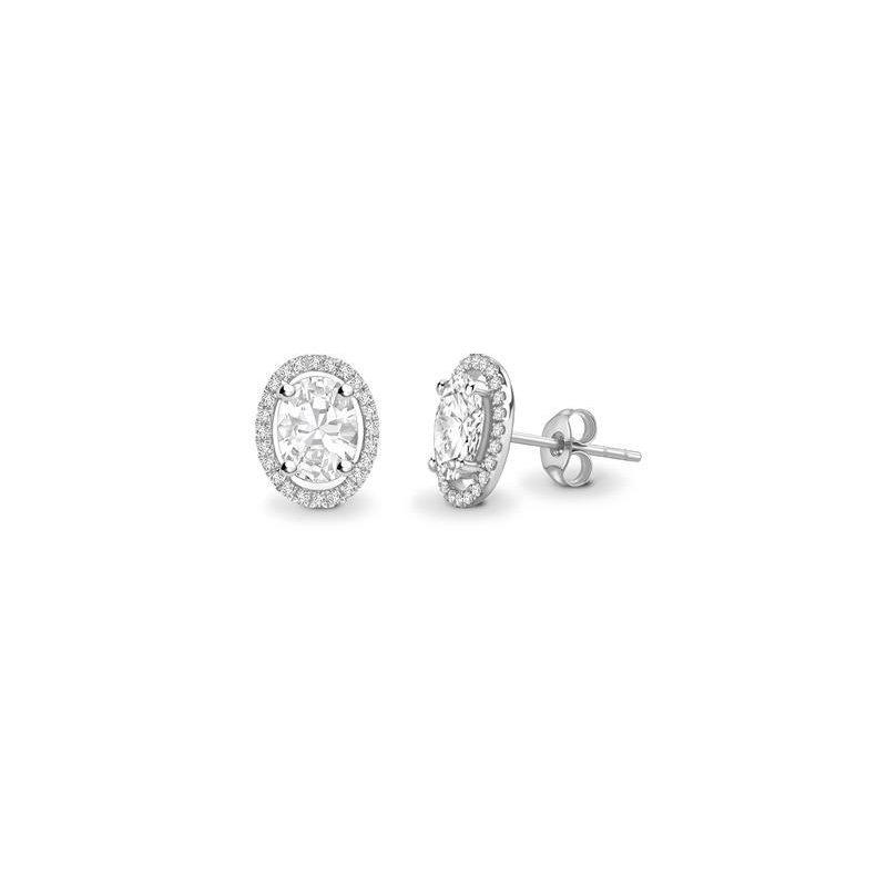 Ashley 1.13 carat Diamond Set Halo Earrings