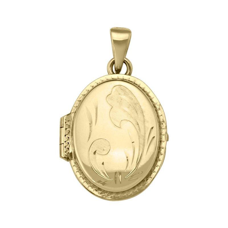 Ashley Yellow Gold Oval Locket