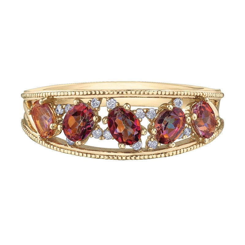 Ashley Sunrise Topaz & Diamond Ring