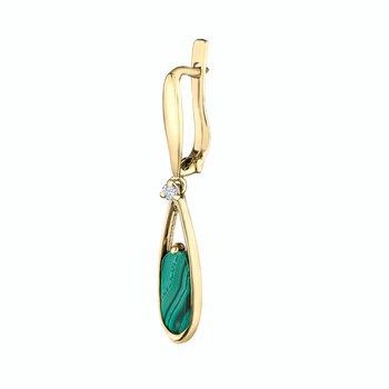 & Malachite Drop Earrings