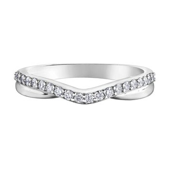 Ladies Curved Diamond Band