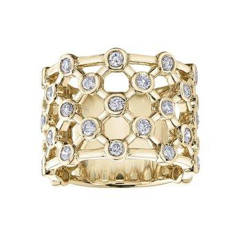 Wide Ladies Diamond Ring