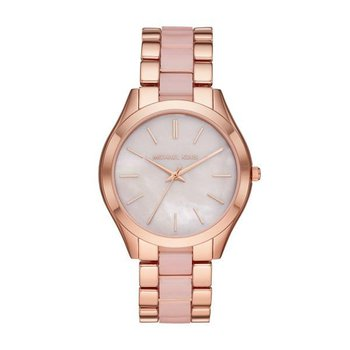 Oversized Slim Runway Rose Gold-Tone and Acetate Watch