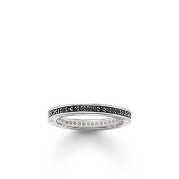 Black Zirconia Eternity Ring