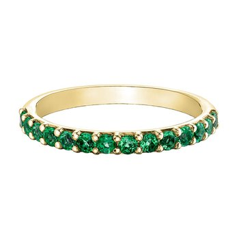 Ladies Synthetic Emerald Band