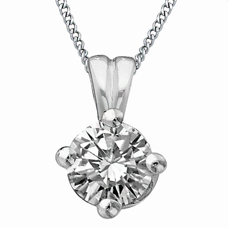 Ashley Diamond Solitaire Necklace