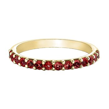Ladies Stackable Garnet Band