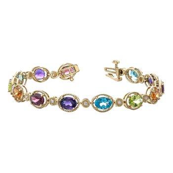 Multi Coloured Gemstone Bracelet