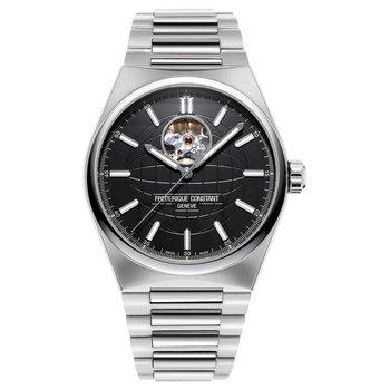 Highlife Heartbeat Auto | Steel Bracelet | Black Dial FC-310B4NH6B Watch