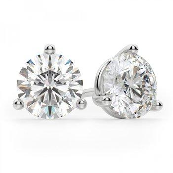 2.00 Carat Lab Grown Diamond Set Martini Earrings