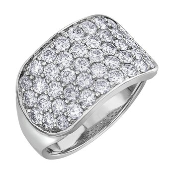 Wide Ladies Diamond Ring