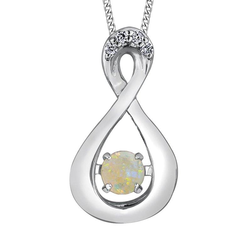 Ashley Opal & Diamond Necklace