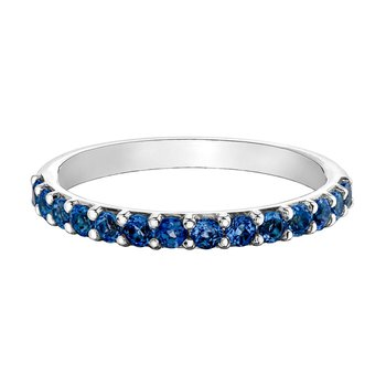 Ladies Synthetic Sapphire Band