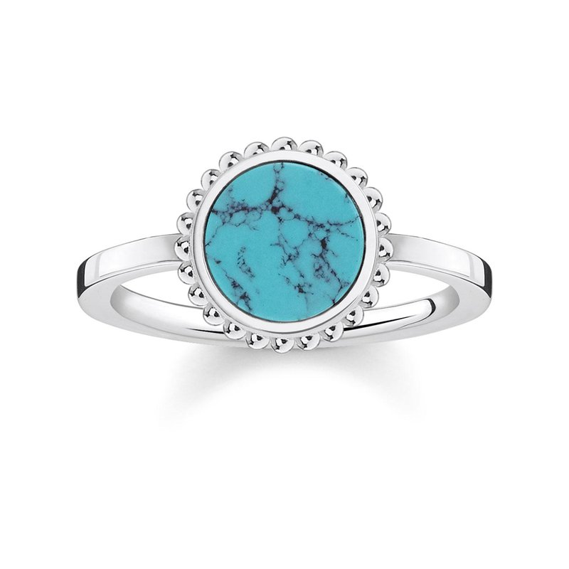 Thomas Sabo Simulated Turquoise Ring