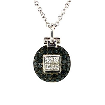 Treated Black Diamond Necklace