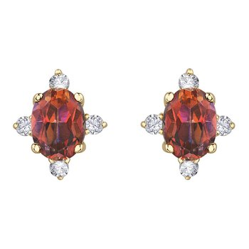 Sunrise Topaz & Diamond Earrings