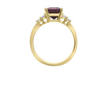 Garnet & Diamond Ring