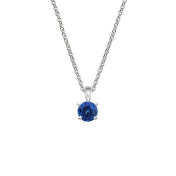 Blue sapphire solitaire Necklace. (chain not exactly as shown)