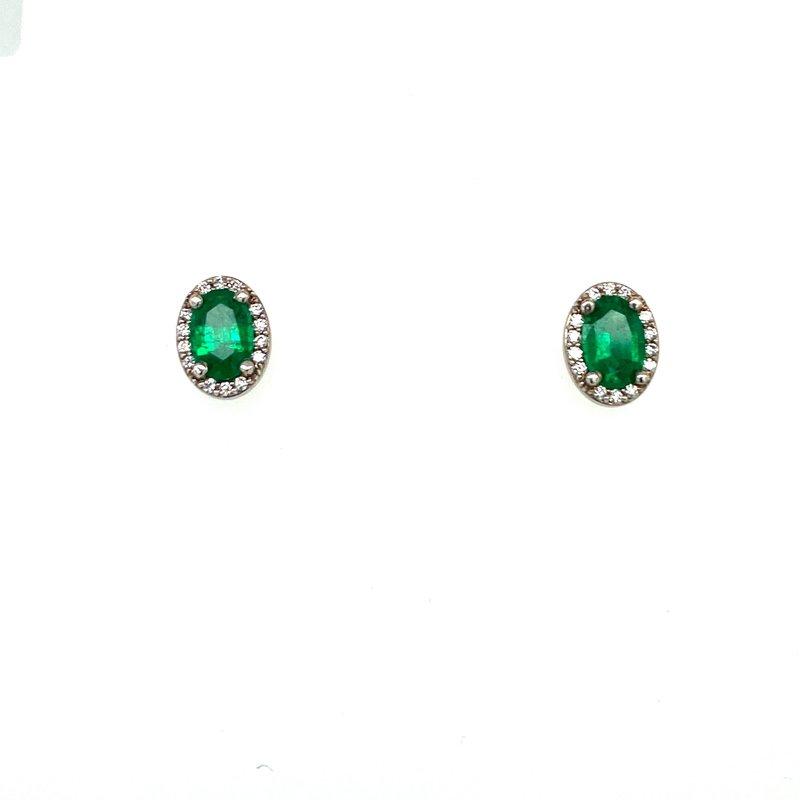 Ashley Oval Emerald Earrings