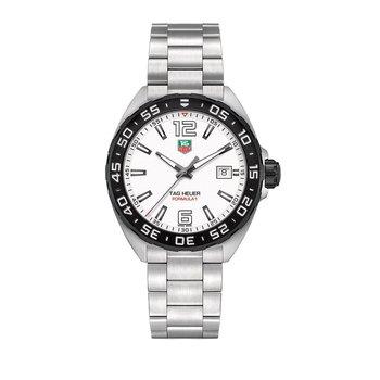 Formula 1 41mm white dial, bracelet