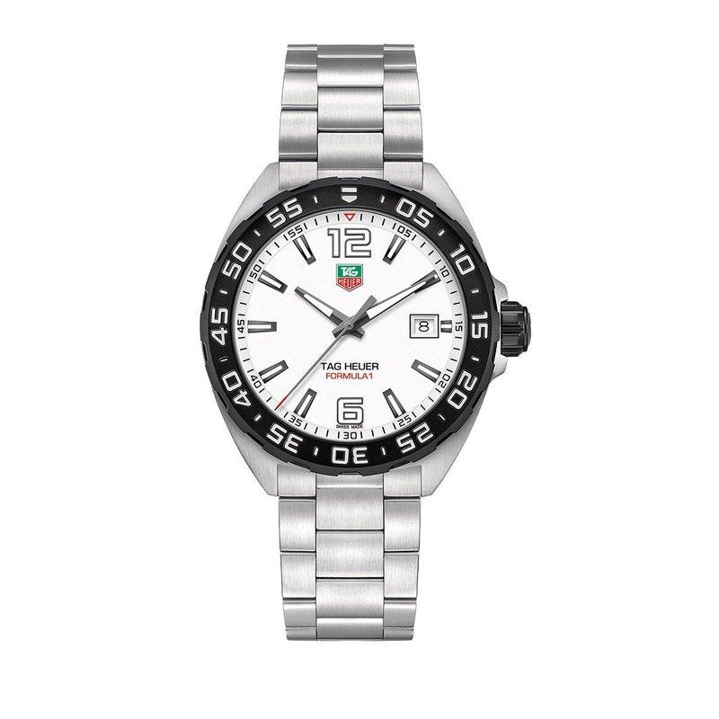 TAG Heuer Formula 1 41mm white dial, bracelet