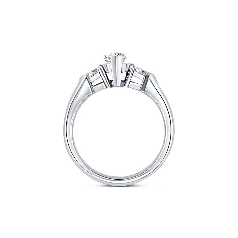 Ashley Platinum Marquise Diamond Engagement Ring