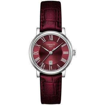 Carson Premium Lady Bordeaux Leather Strap T1222101637300