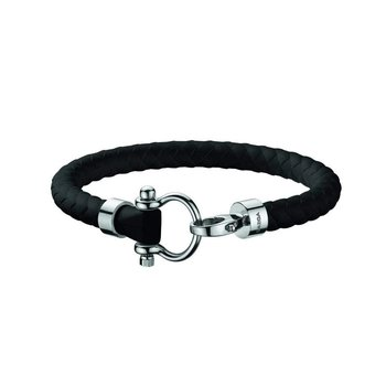 Sailing Bracelet in stainless steel and black rubber