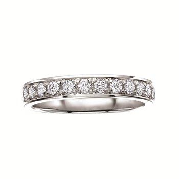 14kt Diamond Set Wedding Band