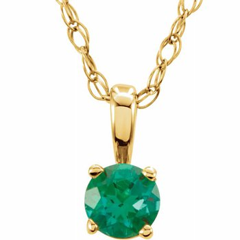 Children's Necklace - May Birthstone