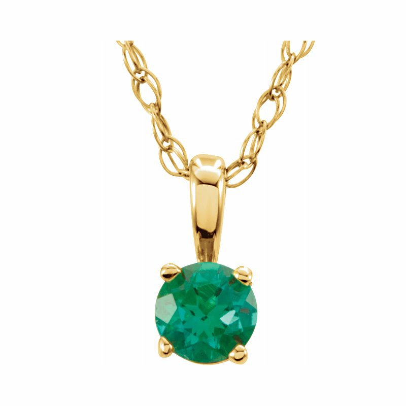 Ashley Children's Necklace - May Birthstone