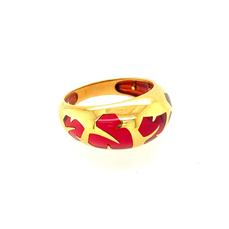Ashley Red Resin Ring