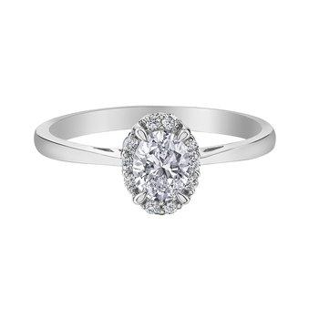 Oval Cut Diamond Halo Engagement Ring