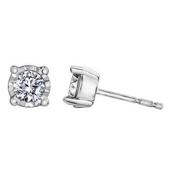 .35 carat Illuminaire Diamond Stud Earrings