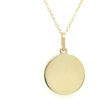 14kt Yellow gold Disc Necklace
