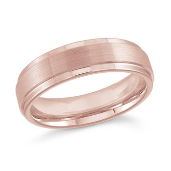 6mm Tungsten Rose Gold Plated Wedding Band