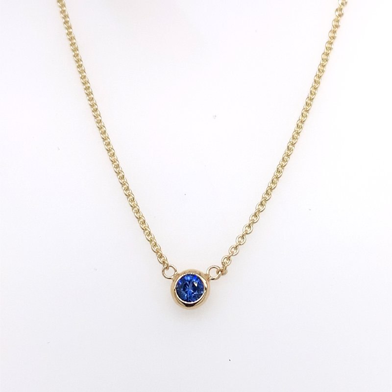 Holiday Collection Blue sapphire bezel-set necklace