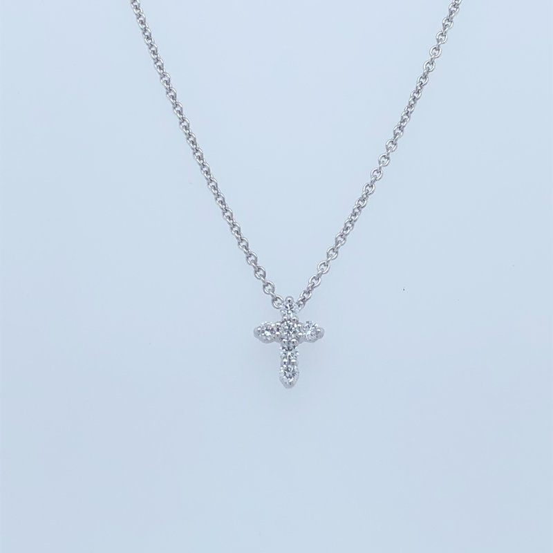 Holiday Collection Diamond cross necklace