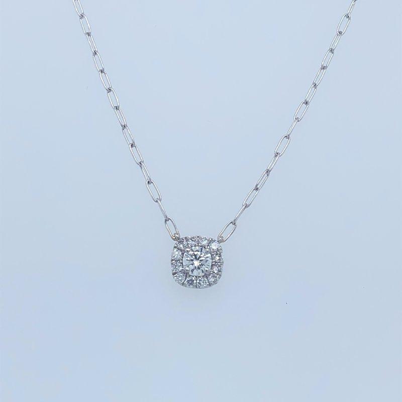 Holiday Collection Diamond pendant with halo