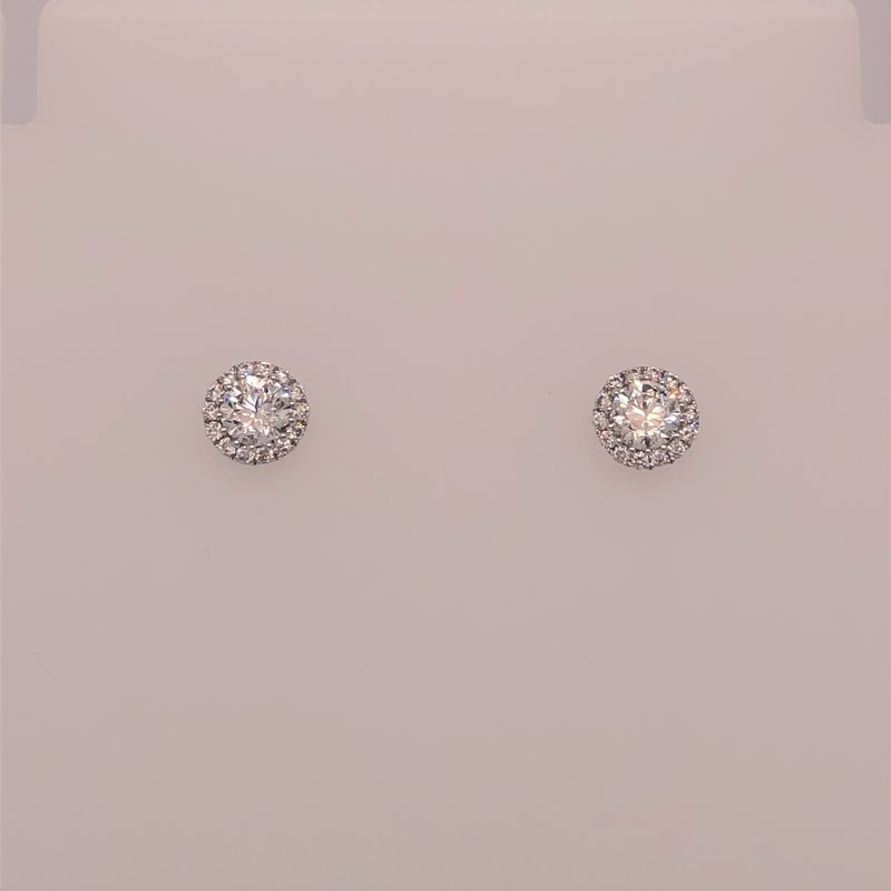 Holiday Collection Diamond cluster earrings