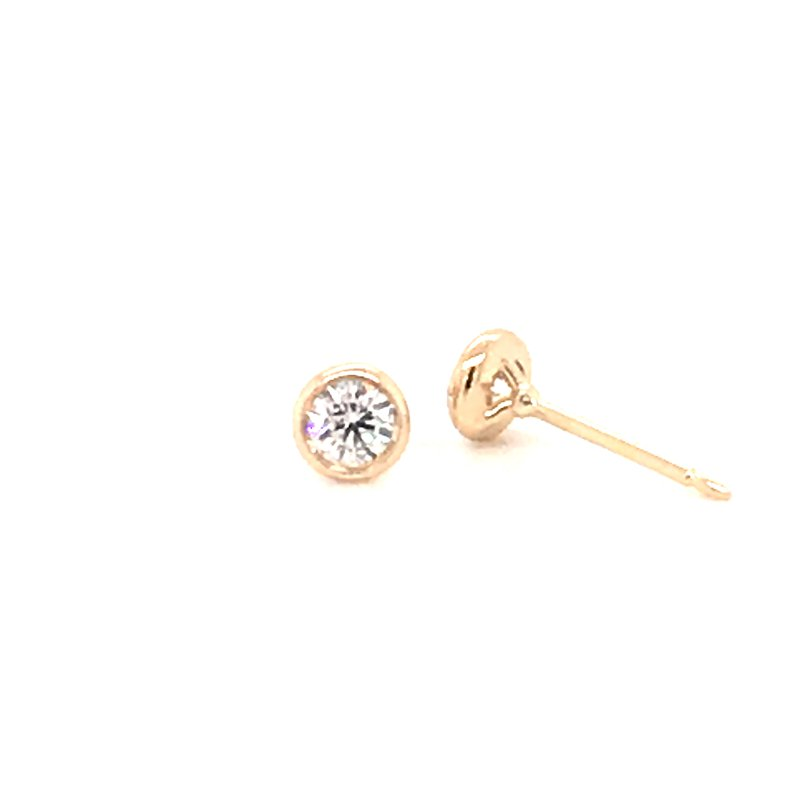 Holiday Collection Diamond Studs set in bezel setting, 0.50pt total weight