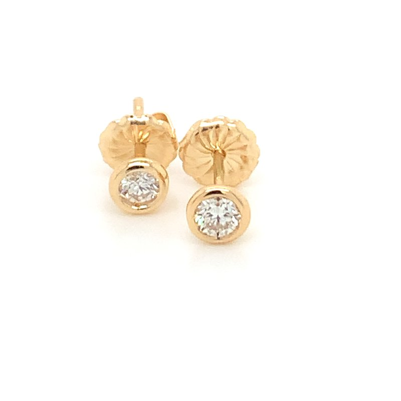 Diamond Studs set in bezel setting, 0.50pt total weight