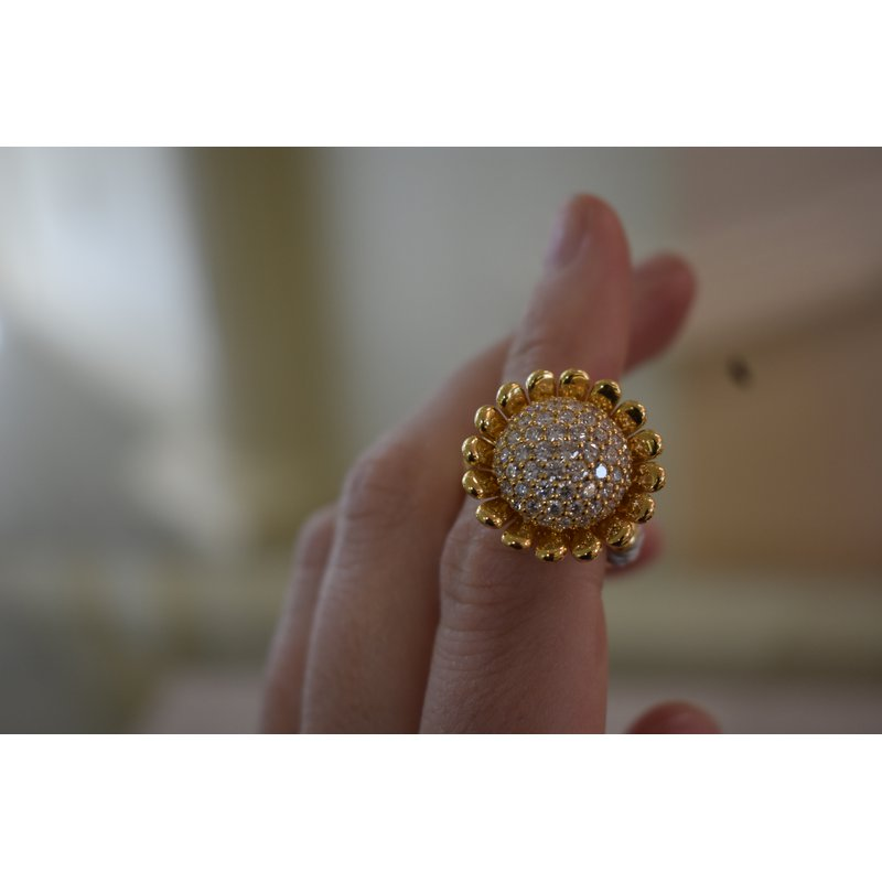 Hartgers Collection Pave Diamond Cocktail Ring