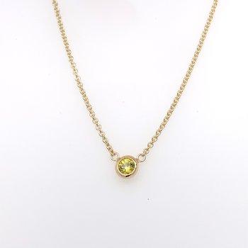 Yellow Sapphire bezel-set necklace