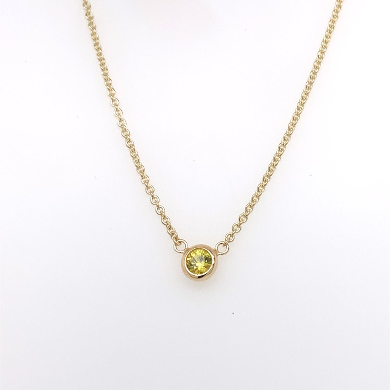 Holiday Collection Yellow Sapphire bezel-set necklace
