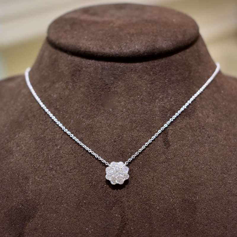 Hartgers Collection Diamond Cluster Necklace, 1.13 ct / white gold