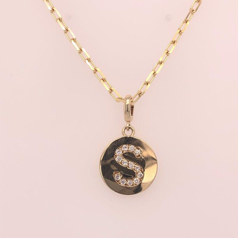 "Holiday Collection Diamond ""S"" Pendant"
