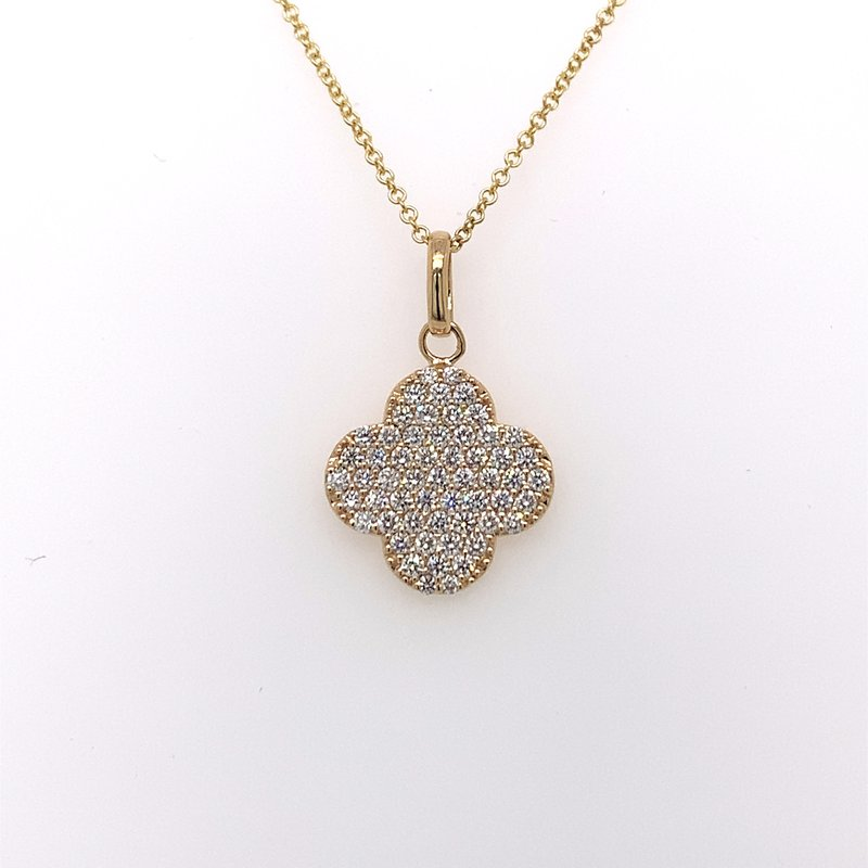 Holiday Collection Pave diamond clover necklace