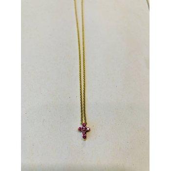 Baby Cross, Pink Sapphire